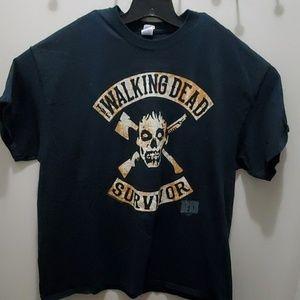 The Walking Dead Survivor 2XL black tshirt #56